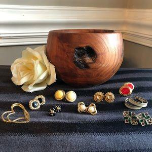 🆕 Vintage Lot of Pierced Earrings - 9 pairs